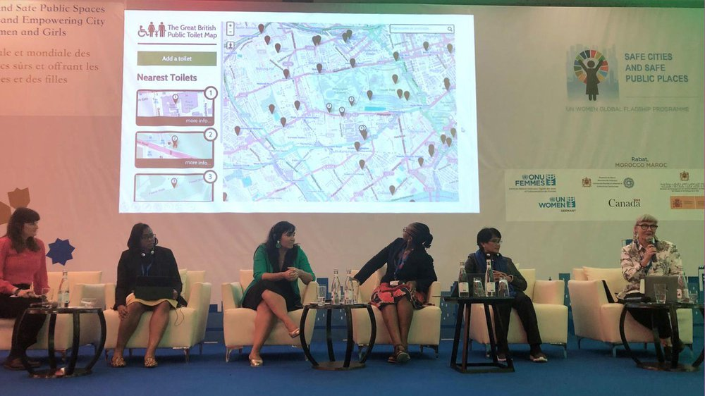Professor Jo-Anne Bichard speaking at Fifth UN Women Safe Cities and Safe Public Spaces Global Leaders' Forum, Rabat, Morocco