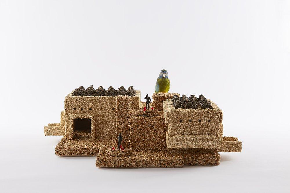 Work In Progress Show Diegetic Prototype - Urban Bird Docking Station (v1.0 Hayward Gallery)