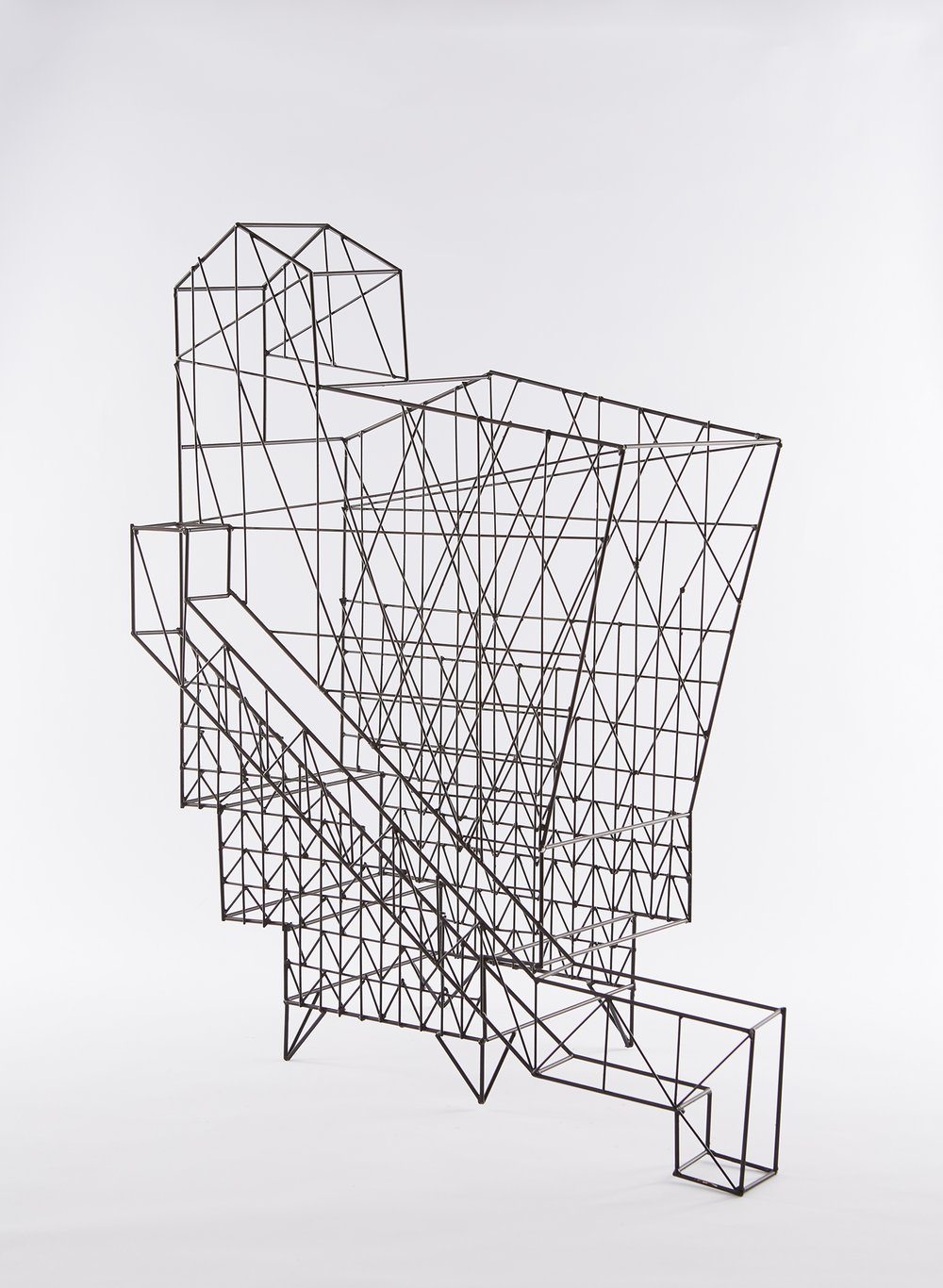 Work In Progress Show Model - Exploring the combination of mock tudor diagonal bracing and expressed high tech structure