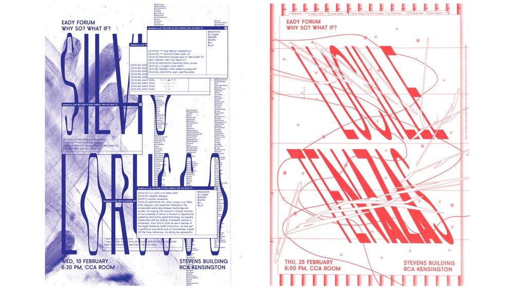 Eady Forum invites Silvio Lorusso and Lucille Tenazas (posters)