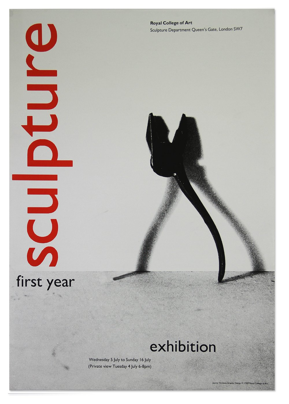 First-year Sculpture Exhibition Poster