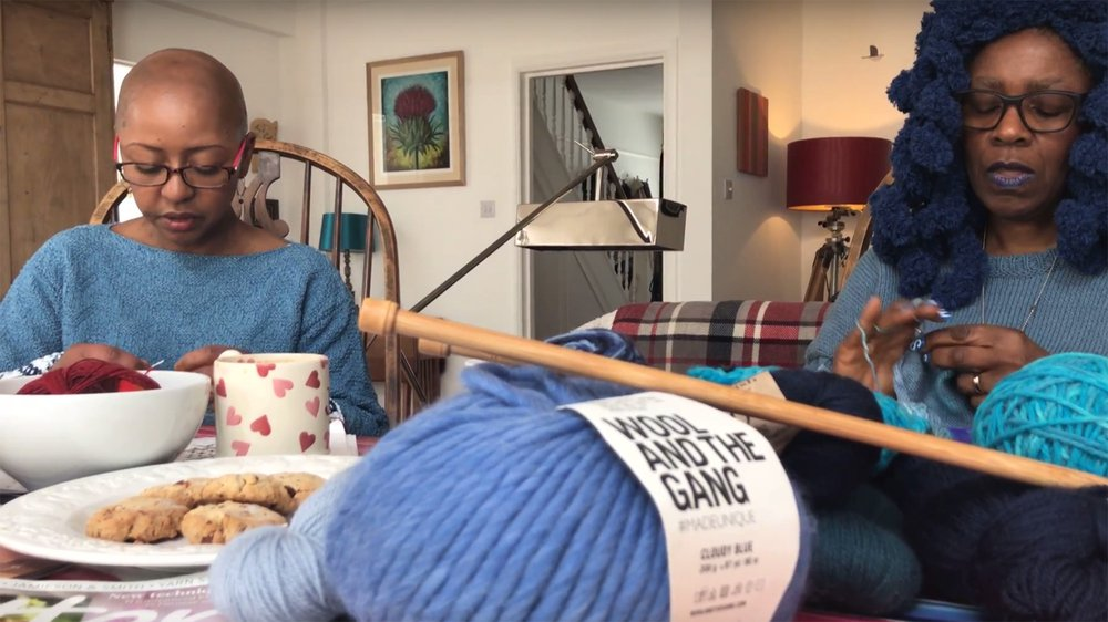 Jeanette Sloan and Lady Yarnarella in 'Knitting the Blues'