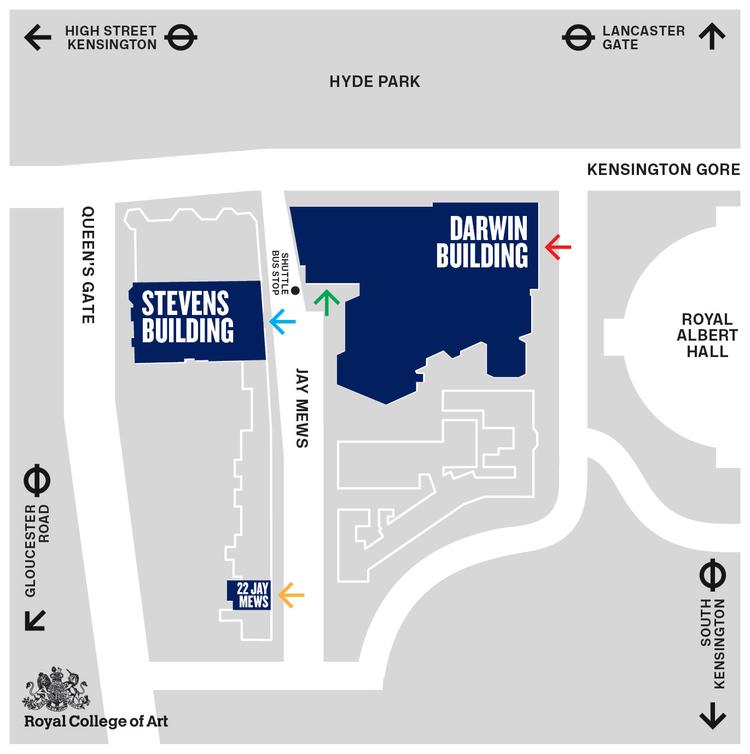 Map of Kensington Campus