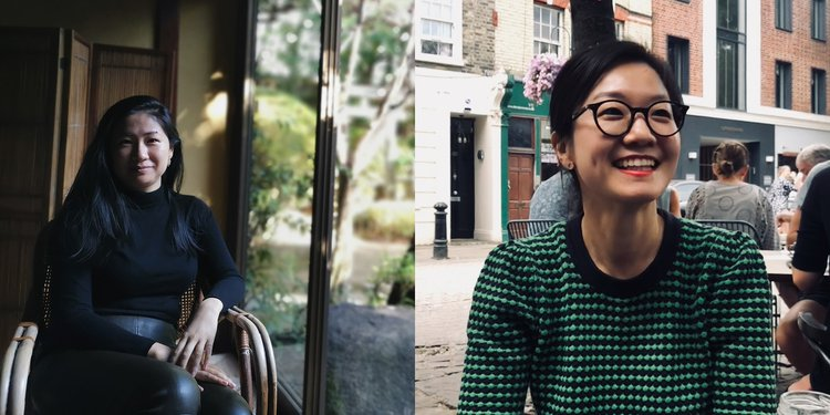 Portraits of Kyung Hwa Shon and Kate Gu