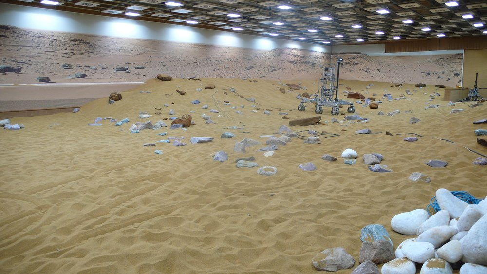 Visit to Airbus Defence and Space's Mars Yard