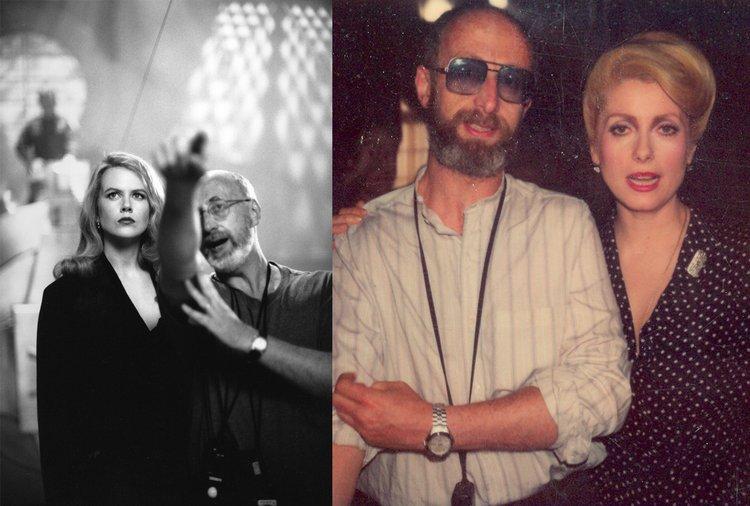 Stephen Goldblatt with Nicole Kidman on the set of Batman Forever  & Catherine Deneuve on the set of The Hunger