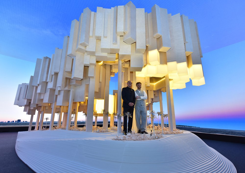 IMKAN Pavilion at Cityscape Abu Dhabi by Heatherwick Studio, 2018 © Victor Besa / The National