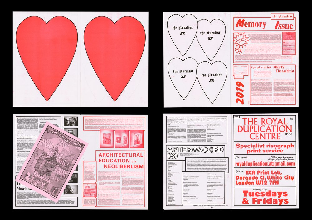 Memory Issue, The Pluralist (RCA Newspaper)
