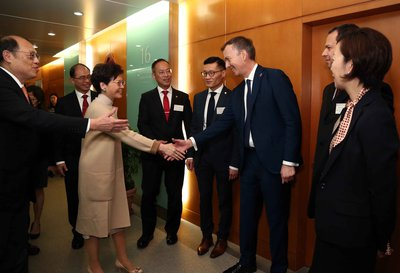 Dr Paul Thompson meets Hon Mrs Carrie Lam in Hong Kong