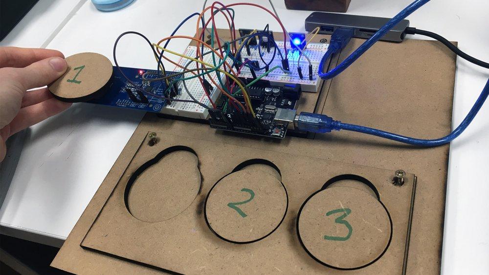 Ma-to-ken, Electronics Testing in Studio