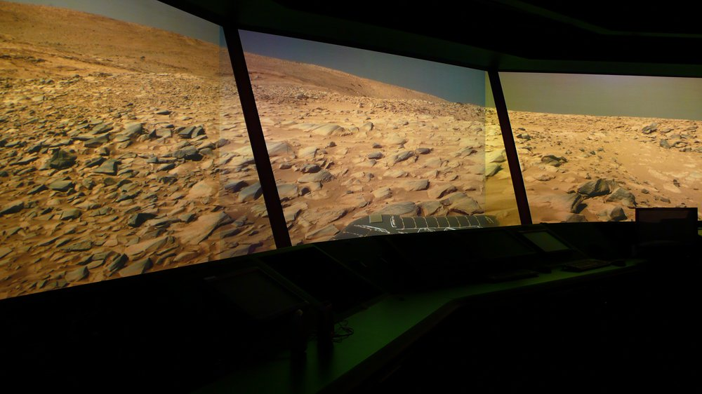 Mars panorama in FutureFlight Central at NASA's Ames Research Center, Moffet Fieldgraph