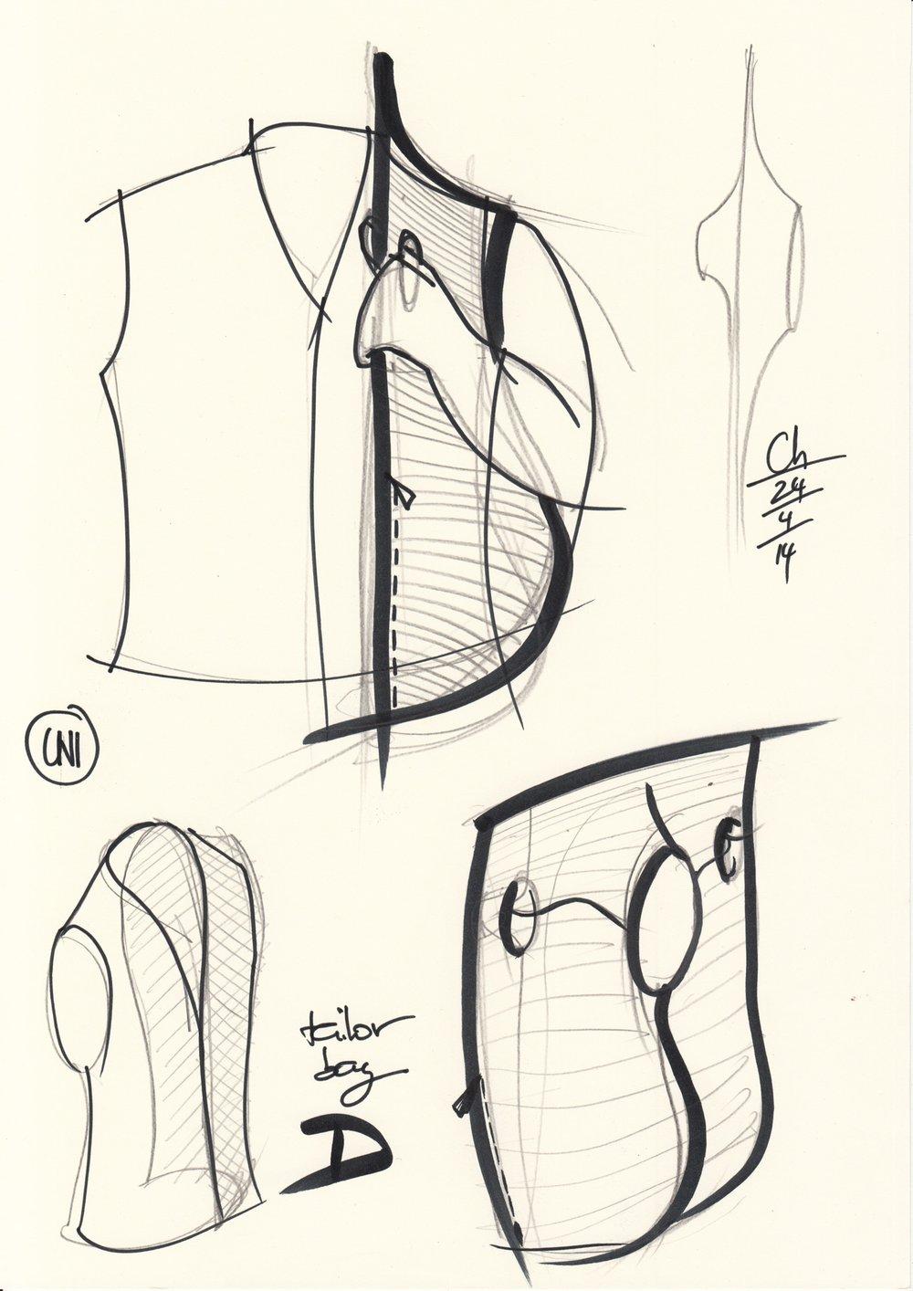 Tailor bag sketch
