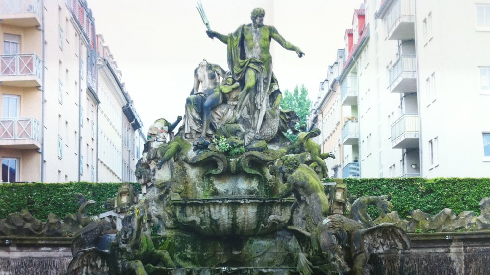 Neptune Fountain, Dresden