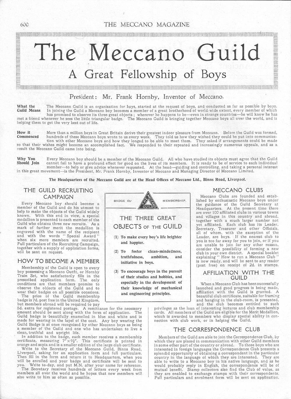 The Meccano Guild