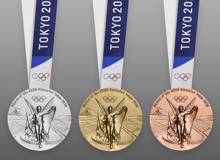 Olympic Summer Games Medal designed by Elena Votsi
