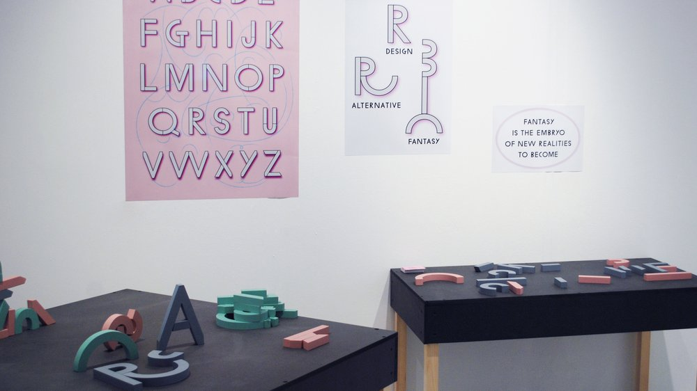 Modular Letter Blocks for Work-in-progress Exhibition