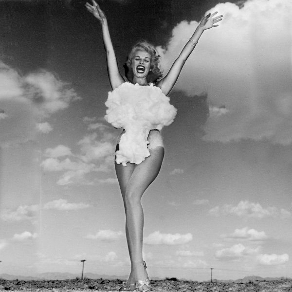 Miss Atomic Bomb of Nevada, Lee Merlin photographed by Don English for the Las Vegas Sun, 1955