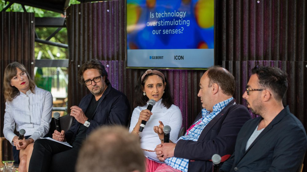 Priya moderating a talk about technology and the senses at Clerkenwell Design Week