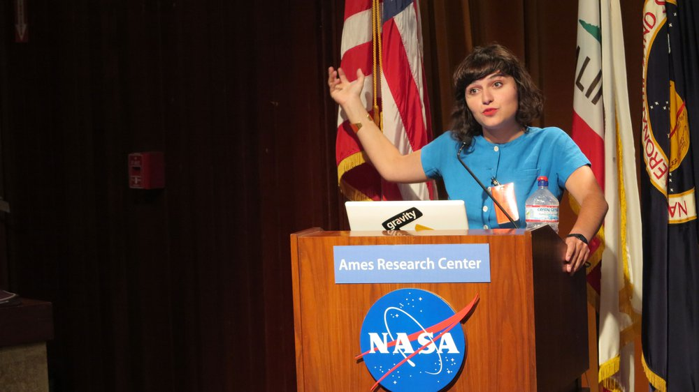 Nelly Ben Hayoun Speaking at the NASA Ames Research Center
