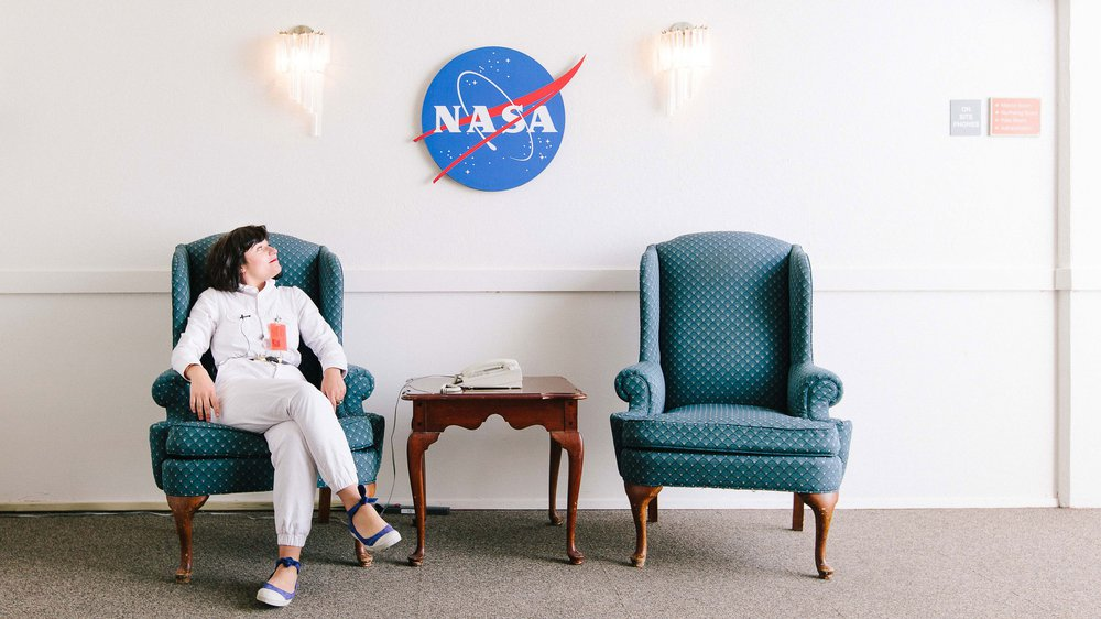 Nelly Ben Hayoun in the NASA Ames Research Center