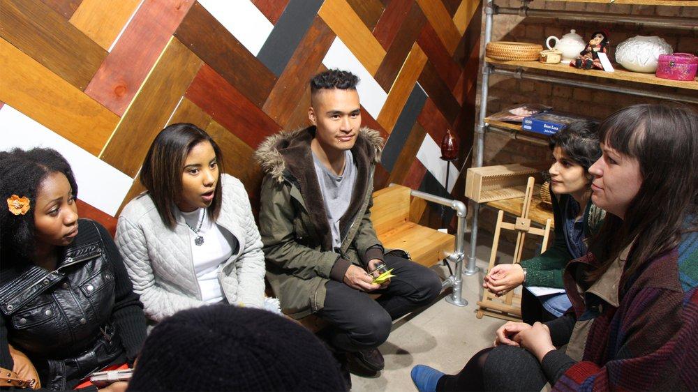Peckham Pieces – client briefing the team