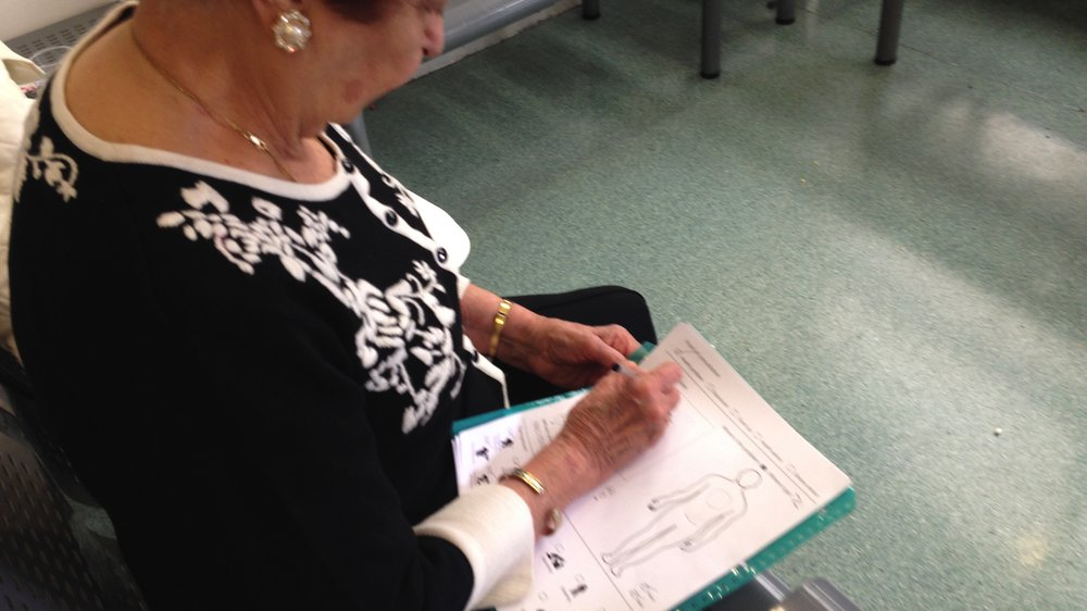 Testing Form with the patient