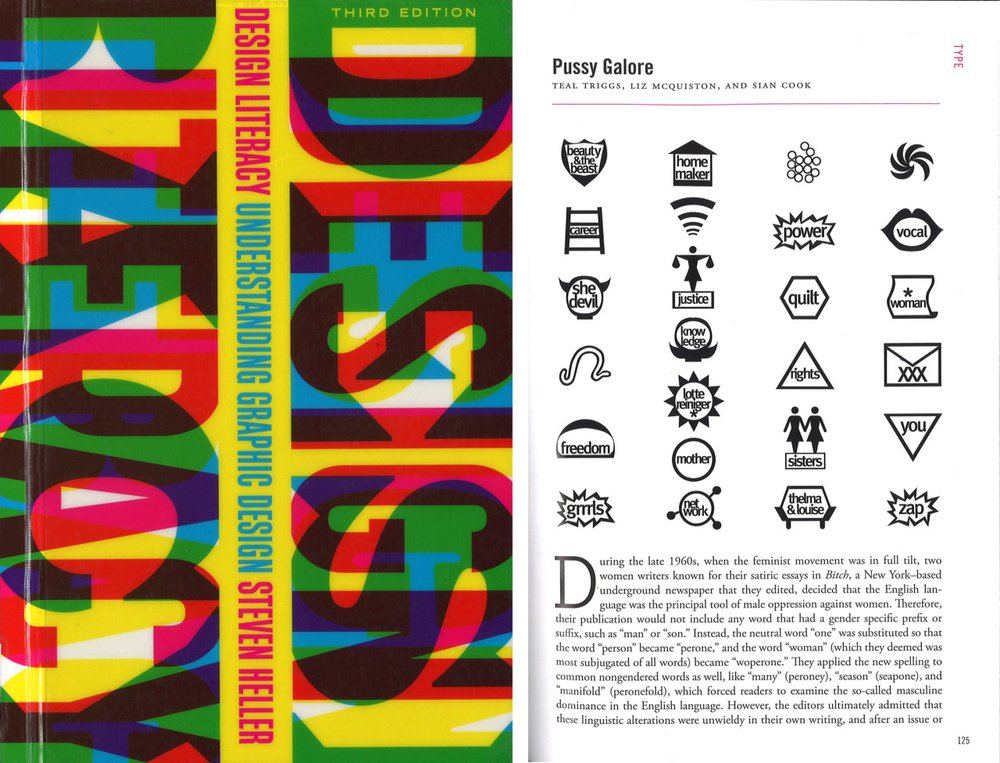Pussy Galore was an experimental typeface for Fuse 12 on the theme of 'propaganda' designed by the Women's Design + Research Unit (WD+RU)