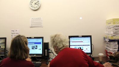 Ladies working at computers