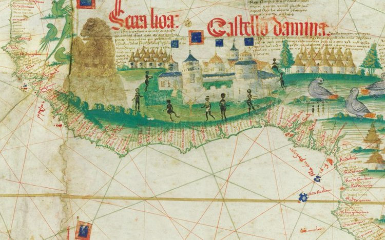 Detail of the Cantino Planisphere, 1502