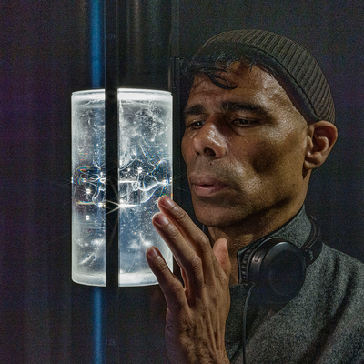 Wayne Binitie and 1765 Sculpture, which contains an ampule of air from that year