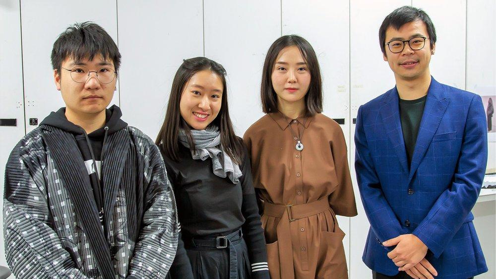 """Winners Yunfei Ma, Ting Zheng, Xiaoyang Zhao and Erica So present """"Blossorigami"""""""