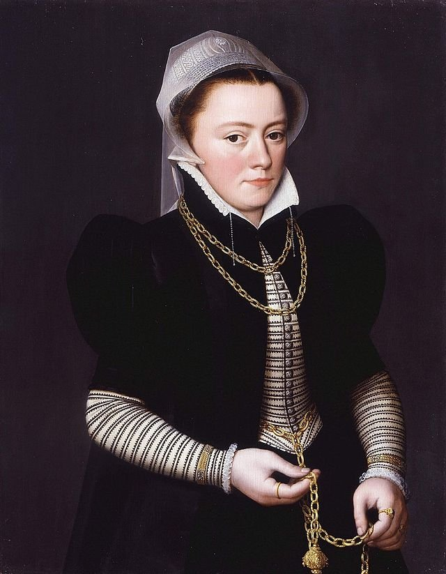 Unknown Woman Holding a Pomander on a Gold Chain