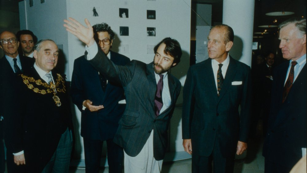 Prince Phillip at the Royal College of Art, 1992