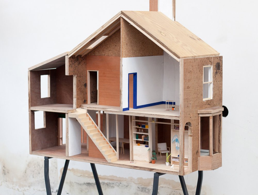 1:10 working model of one of the 10 Houses on Cairns Street, Granby Four Streets, Liverpool. Image courtesy of Assemble.