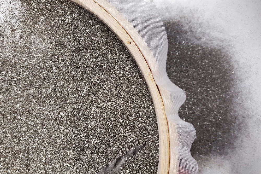 Sieving Pyrite (particle size selection)