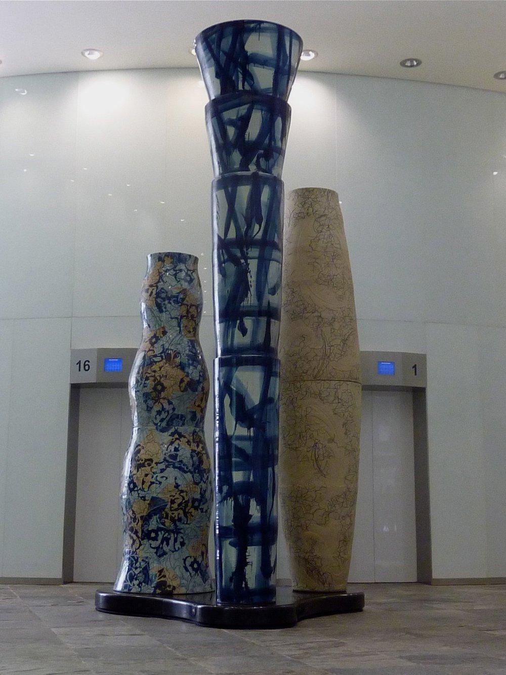 A Commission of Three Monumental Ceramic Sculptures, Doha, Qatar Arab Emirates, 2013