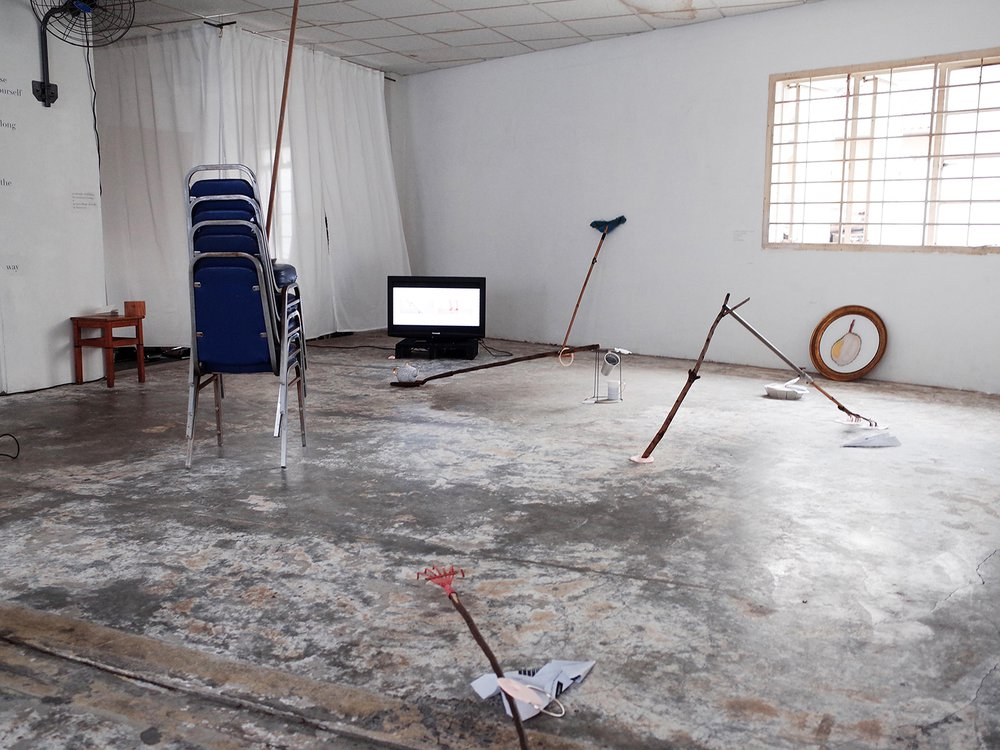 Lose yourself along the way, Installation view