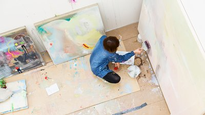 Painting Studio - view from above