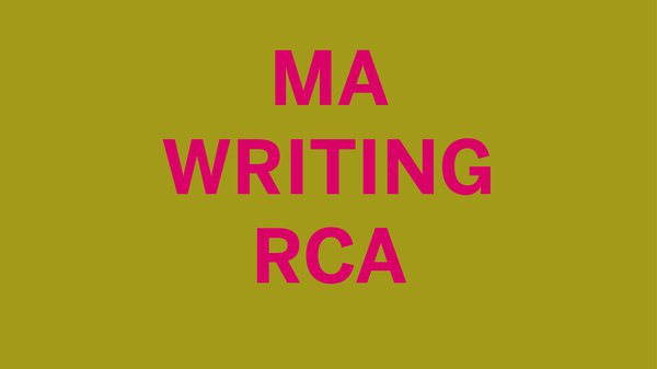 MA Writing Open Session