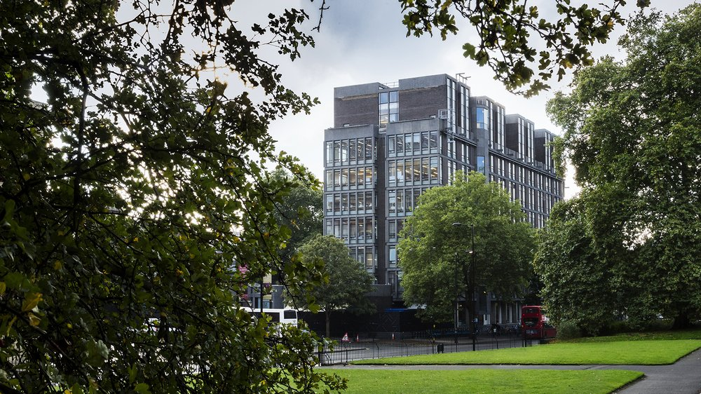 View of Royal College of Art from Hyde Park
