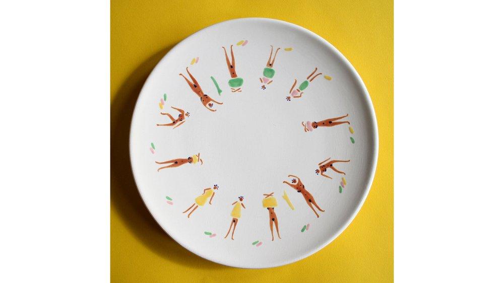 Naked Ladies Plate