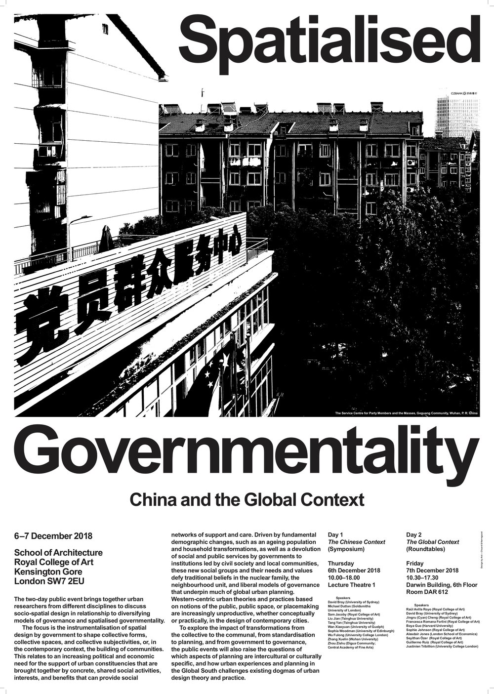 Spatialised Governmentality Event Poster