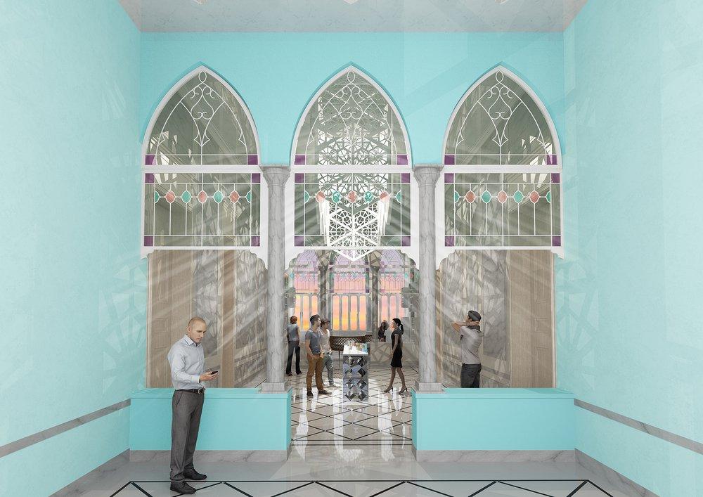 Atrium and galleries
