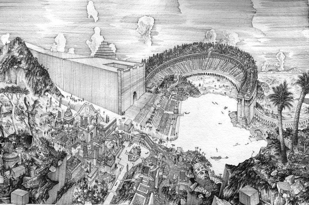 "The Hanging Garden of Nineveh by Sennacherib, King of Assyria ""( 700.BC)"