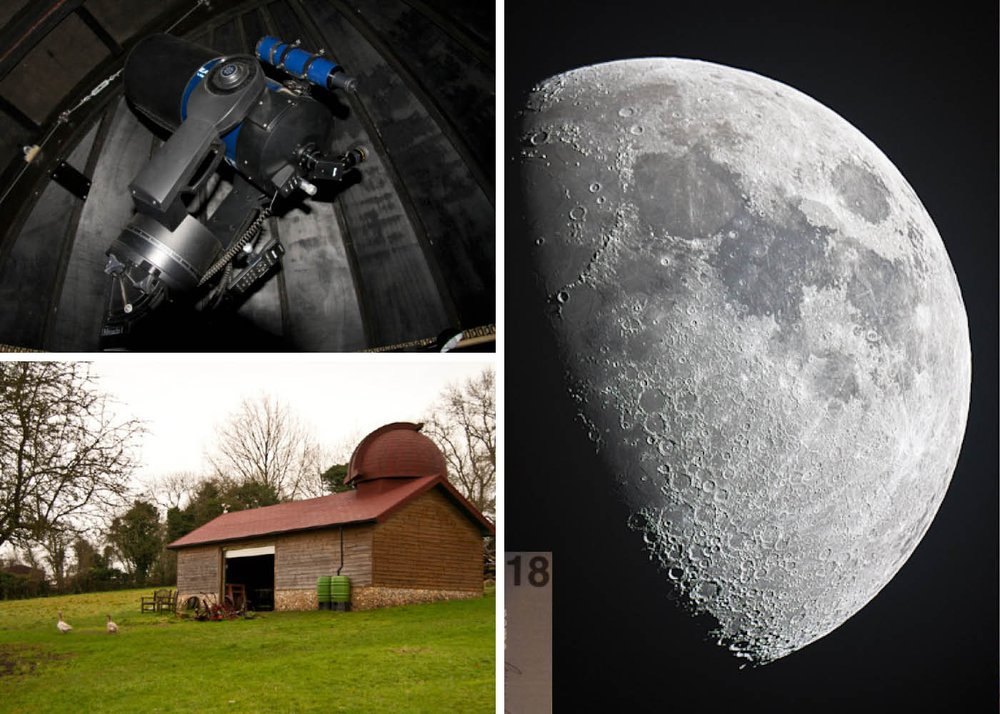 Design research probe result of user making their own telescope and the image of the moon captured from it