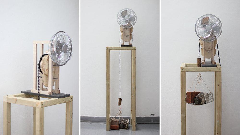 Gravity-powered fan