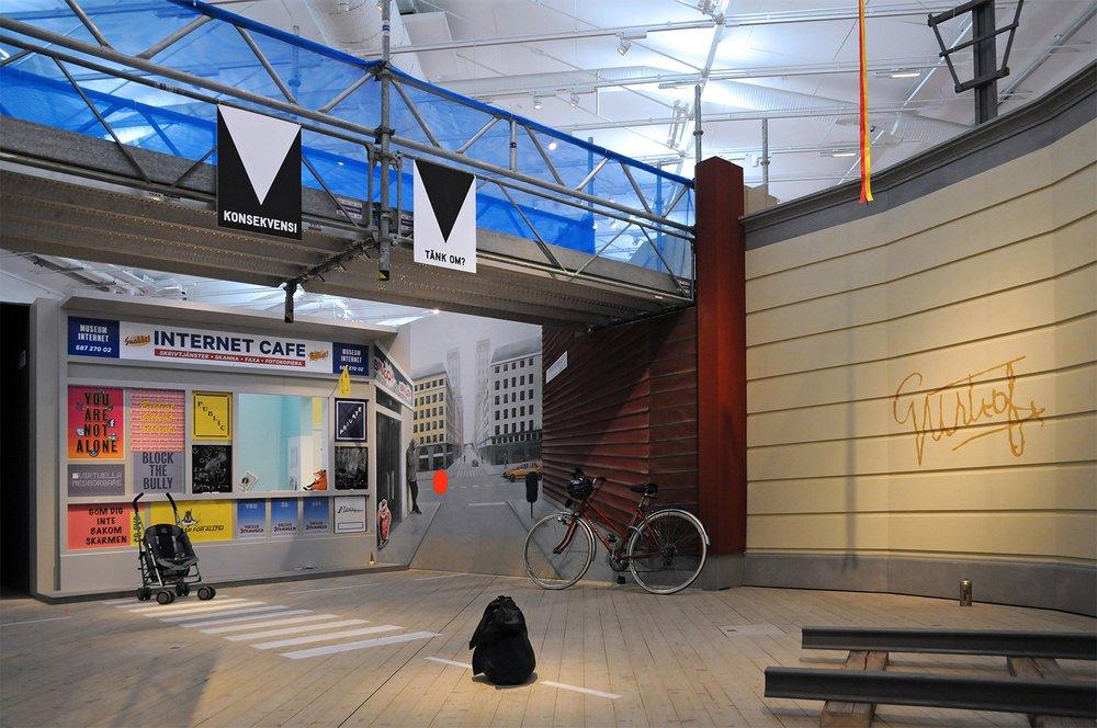 Internet Café and Town Square, Risk Centre, Arkitekturmuseet, Stockholm, courtesy of Onkar Kular