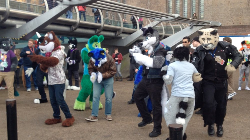 Video still from FurSuit Walk in London