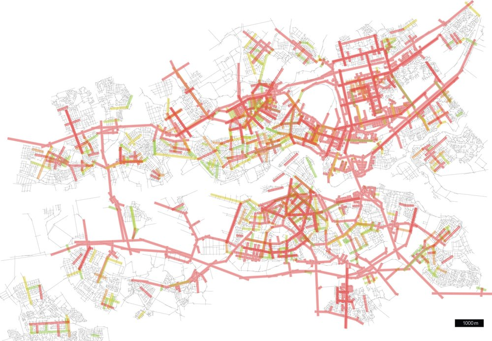 Rotterdam's global and local network – measured with SpaceSyntax