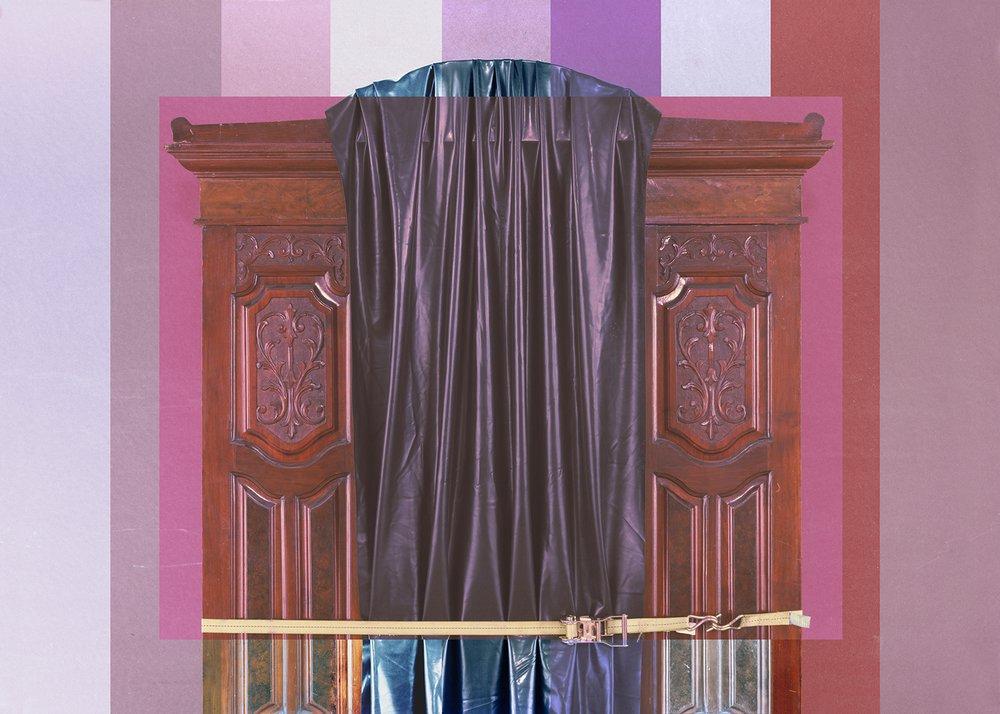 #Victorian #mahogany #wardrobe #19thcentury #carving #rubber #sheeting #ratchetstrap